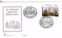 I. REPUBBLICA - 10° SIMPOSIO MARINE DEL MEDITERRANEO - FDC CAPITOLIUM  - VENEZIA - ANNO 2015 - 6. 1946-.. Repubblica