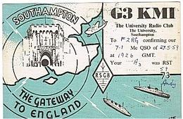 CARTE - RADIO - QSL - ANGLETERRE - ENGLAND - SOUTHAMPTON - 1959 - - Radio Amateur