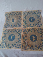 RARE OLYMPIC MOSCOW 1980 GAMES FOOD PAD FULL SET 4 PIECES NO OTHER FOR SELL NOW - Habillement, Souvenirs & Autres