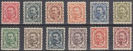 Luxemburgo 1905/15 Nº74/85 Charnela - 1906 Guillermo IV