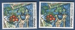 France - Variété N° Yvert 1901 Tableau De Vlaminck Neufs Luxe   2 Scans Recto Et Verso  Réf. 1186 - Variétés Et Curiosités