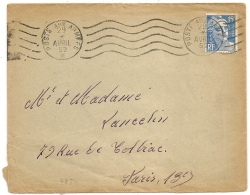 FLAMME POSTE AUX ARMEES 1952 Sur 15F GANDON. Origine Baden SP 55882. BPM 507. FFA. - Postmark Collection (Covers)