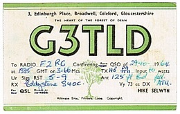 CARTE - RADIO - QSL - ANGLETERRE - ENGLAND - COLEFORD - GLOUCESTERSHIRE - - Radio Amateur