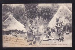 LES-04 BASUTO WOMEN STAMPING & GRINGING MEALES - Lesotho