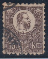 HUNGRIA 1871 -Yvert #5 - VFU - Hungría