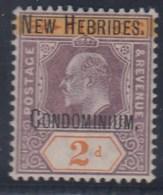 NEW HEBRIDES 1908/09 (LEYENDA FRANCESA) - Yvert #7 - MNH ** - Leyenda Francesa