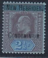 NEW HEBRIDES 1908/09 (LEYENDA FRANCESA) - Yvert #8 - MLH * - Leyenda Francesa