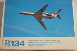 AIRLINES ISSUE / CARTE COMPAGNIE        AEROFLOT   TU 134 - 1946-....: Moderne