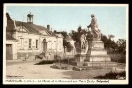 37 - MANTHELAN - LA MAIRIE ET LE MONUMENT AUX MORTS - France