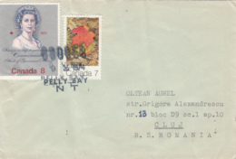 43664- QUEEN ELISABETH 2ND, MAPLE LEAF, STAMPS ON COVER, 1974, CANADA - Brieven En Documenten