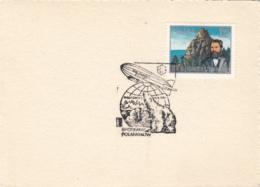43721- LZ 127 GRAF ZEPPELIN POLAR FLIGHT, WALRUS, POLAR BEAR, SPECIAL POSTMARK ON CARDBOARD, 1981, POLAND - Polar Flights