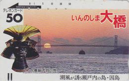 Télécarte Ancienne Japon / 110-1305 - COUCHER DE SOLEIL - SUNSET Japan Front Bar Phonecard / A - Balken Telefonkarte - Landscapes
