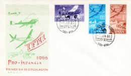 Ifni SPD 218/220 (o) Sobre Primer Día. 1966 - Ifni