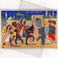 75 - PARIS - CHROMO AU BON MARCHE - MAISON BOUCICAUT -AU MAROC LE SULTAN RECOIT L' ENVOYE DU BON MARCHE - Au Bon Marché