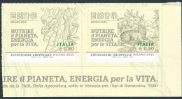 Italia 2015; EXPO Milano 2015; Angolo Con Gli Ultimi 2 Francobolli Del Foglietto, Bordo Inferiore A Destra - 6. 1946-.. Repubblica