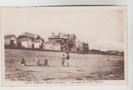 CPSM VER SUR MER (Calvados) - La Plage Au Petit Trianon - Autres Communes