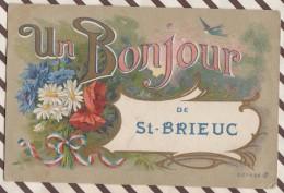 6AI2563 ST SAINT BRIEUC FANTAISIE UN BONJOUR DE   2 SCANS - Saint-Brieuc