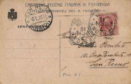 FRANCHIGIA POSTA MILITARE PRIVATA 1916 VESTONE X SAN REMO BERSAGLIERI - 1900-44 Vittorio Emanuele III