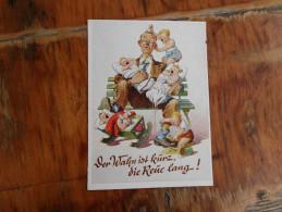 Munchenes Bildkunstverlog August Lengauer  Der Wohn Ist Kurz Die Reue Lang - Humor