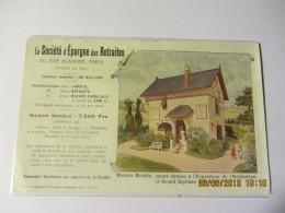 Cpa PUBLICITE  : La Société D'Epargne Des Retraites - - Advertising