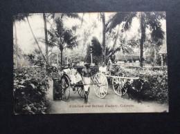AK   CEYLON   SRI LANKA   RICKSHAW AND BULLOCK HACKERY COLOMBO - Sri Lanka (Ceylon)