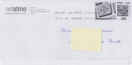 Mon Timbre En Ligne Lettre Verte 0.58€ Enveloppe 16.01.15 - France