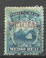 COSTA RICA 1862 Michel 1 With OPT OFICIAL - Costa Rica
