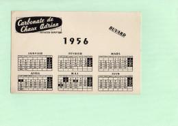 BUVARD - Carbonate De Chaux Adrian - Calendrier 1956 - Produits Pharmaceutiques