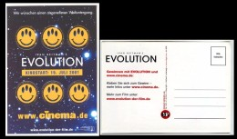 CP AUTOCOLLANT Cinéma Evolution Ivan Reitman´s 2001 Allemagne - Deutschland - Cinema