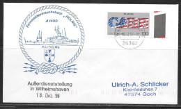 1996 Germany - Auberdienststellung In Wilhelmshaven - 18 Dez 96 - Navy - Storia Postale