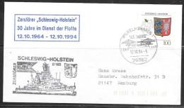 1994 Germany - Wilhelmshaven - 12.10.94 - Navy Fleet Anniversary Fancy Cancel - Brieven En Documenten