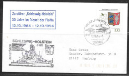 1994 Germany - Wilhelmshaven - 12.10.94 - Navy Fleet Anniversary Fancy Cancel - [7] Repubblica Federale