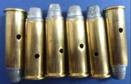 Lot De 6 Balles Inertes - .44 Magnum. - Armes Neutralisées