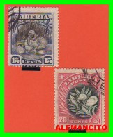 LIBERIA ( REPUBLICA ) 2 SELLOS AÑO 1909 - Liberia