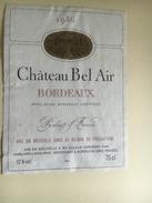 840 - Château Bel Air 1986 - Bordeaux