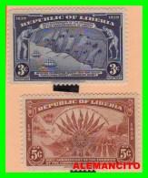 LIBERIA  ( REPUBLICA )   2  SELLOS  AÑO 1940 - Liberia