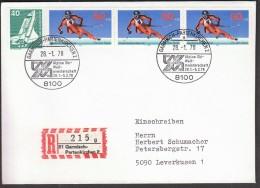 Germany Garmisch-Partenkirchen 1978 World Championships In Alpine Skiing / Einsfchreibebrief - Ski