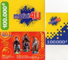 RECHARGES GSM VIET- NAM  *100.000D *100.000D *100.000D (Lot De 3 ) - Viêt-Nam
