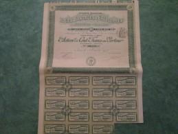 ROUES, BANDAGES & ENVELOPES  RIPERT-PARIS  Action De Cent Francs Au Porteur N°06278 - Automobile