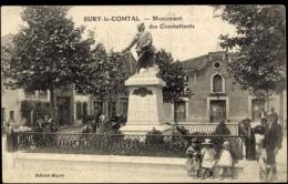 Cp Sury Le Comtal Loire, Vue Générale Du Monument Des Combattants - Otros Municipios