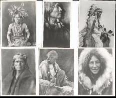 Photos D´Indiens D´Amérique De Edward Sheriff Curtis, Format Env. 8x10 Cadre Blanc Irrégulier (878) Retirage? - Ethnics
