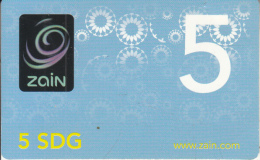 SUDAN - Zain Prepaid Card(glossy Surface) 5 SDG, Exp.date 19/05/12, Used - Sudan
