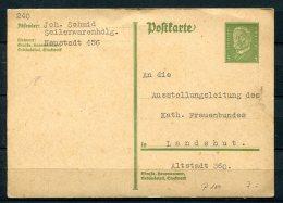 Germany 1928 Uprated Postal Stationary Card Landshut - Germany