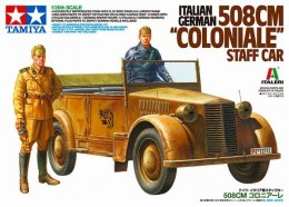 "Italian German 508 CM "" Coloniale "" Staff Car     1/35 Tamiya - Military Vehicles"