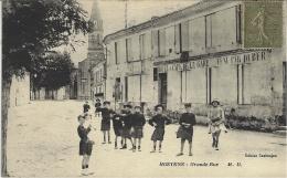 HOSTENS - Grande Rue- Ed. Cazimajou -ed. Cazimajou -animé -Hôtel Café De La Gare - Other Municipalities