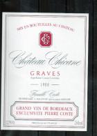 BORDEAUX - Graves - Chateau - Chicane 1986 - Bordeaux