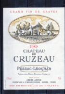BORDEAUX - Graves - Chateau - De Cruzeau 1989 - Bordeaux