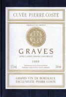 BORDEAUX - Graves - Chateau - Cuvée Pierre Coste 1988 - Bordeaux