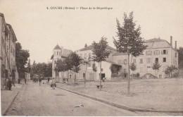 69 - COURS - Place De La République - Cours-la-Ville
