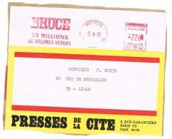 Flamme Rouge 1970 MEAUX  BRUCE. - Oblitérations Mécaniques (flammes)
